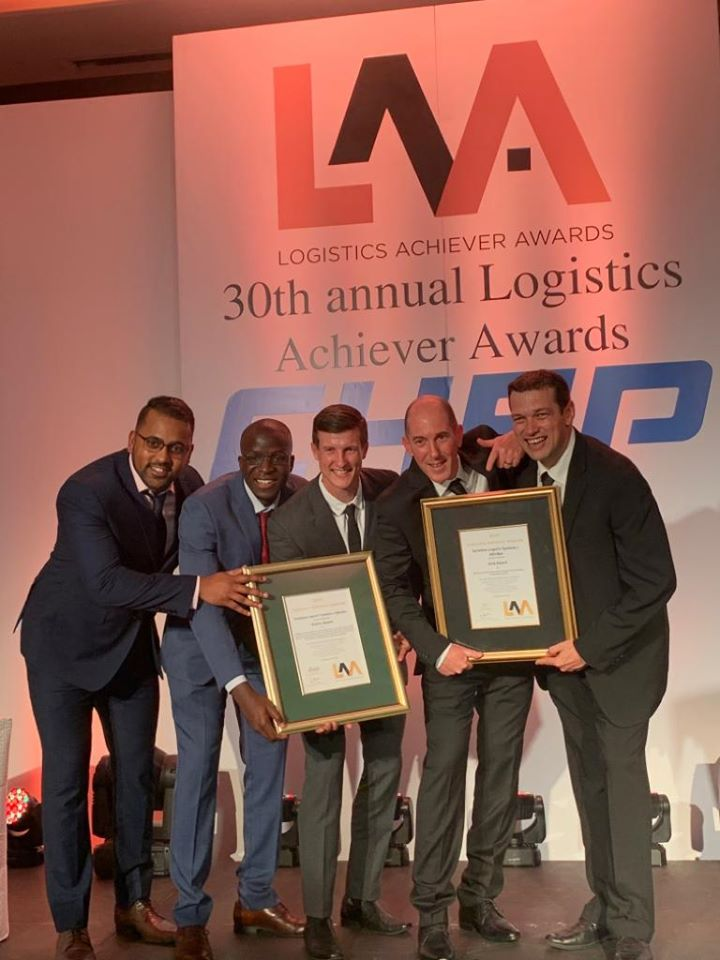 Logistics Achiever Awards - double gold prize winners