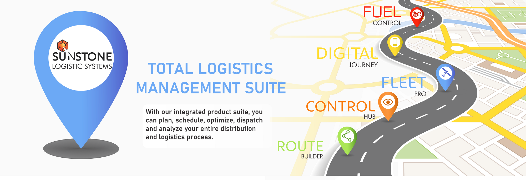 Total Logistics Management Suite - With Our integrated product suite you can plan, schedule, optimize, dispatch and analyse your entire distribution and logistics process.
